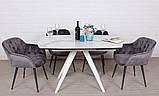 Стол обеденный COVENTRY керамика белый 130/200*89.5 Nicolas (бесплатная доставка), фото 3