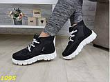 Дутики ботинки зимние на густом меху черные 36, 39 р. (1095), фото 5