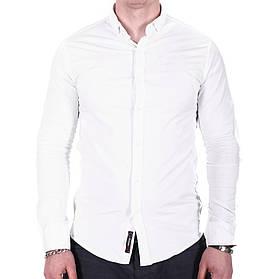 Рубашка большого размера Ronex Турция o0219 Белая XXL 5XL