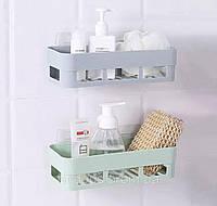 Полиця для ванної кімнати на самоклеючій основі. Сірий