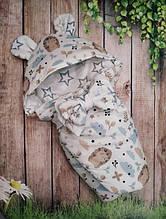 Конверт  с капюшоном  для новорожденных    78х78 см