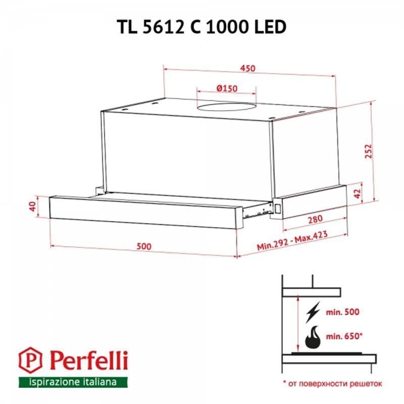 Perfelli TL 5612 C S/I 1000 LED