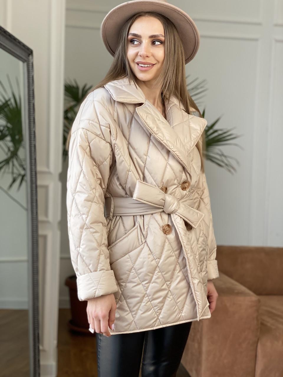 Красивая демисезонная стеганая куртка Норд 10883