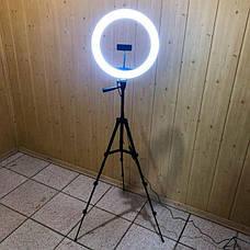 Набор для блогера 5 в 1 кольцевая лампа 33 см RGB со штативом на 1м лампа для селфи кольцо кольцевой свет, фото 2