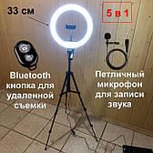 Набор для блогера 5 в 1 кольцевая лампа 33 см со штативом на 1м лампа для селфи лампа для тик тока