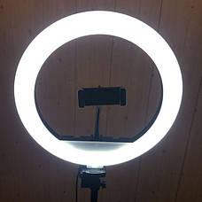 Набор для блогера 5 в 1 кольцевая лампа 30 см со штативом на 1м  лампа для селфи лампа для тик тока, фото 3