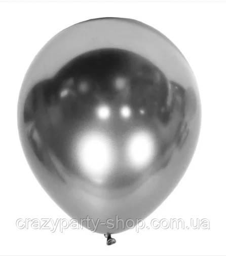 "Шар воздушный хром серебро 12 """