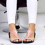 Босоніжки жіночі рожеві / пудра натуральна шкіра, фото 10