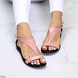 Босоніжки жіночі рожеві / пудра натуральна шкіра, фото 7