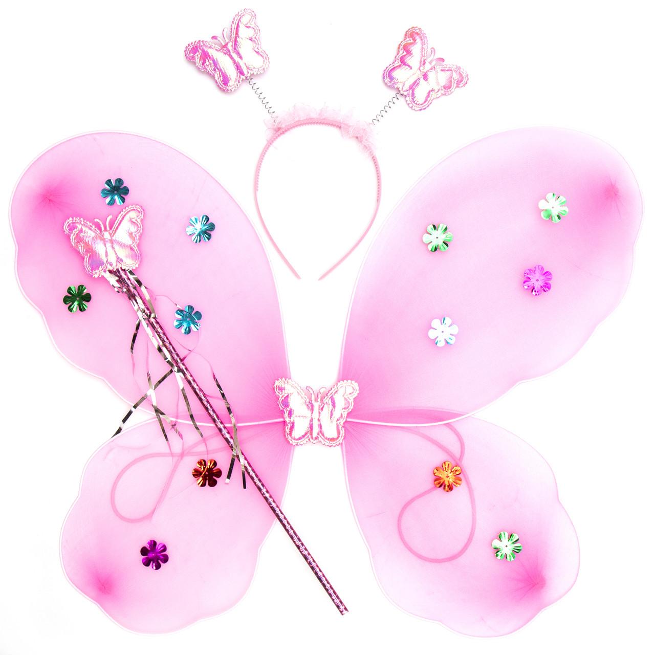Карнавальний костюм метелик, світло-рожевий (HLJ170419-15-5)