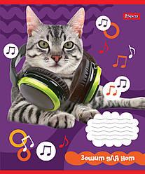 Нотная тетрадь А5/12 л. Pets in headphone 1B
