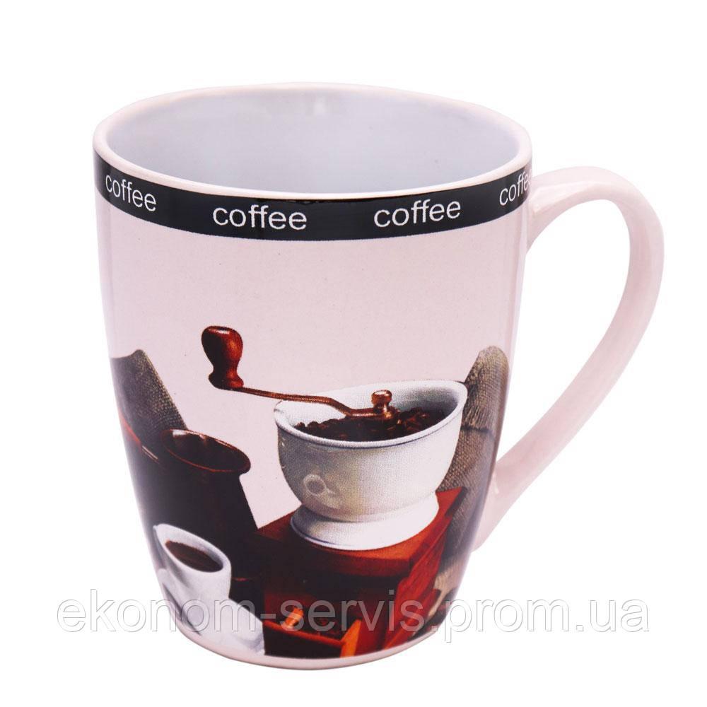 Чашка керамічна глянцева Coffe 340мл (6 штук в наборі)