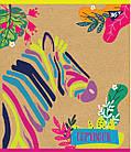 """Зошит для записів А5 / 48 кл. YES """"Rainbow animal"""" крафт, білила, 5 шт / уп., фото 3"""