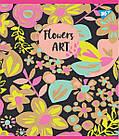 """Зошит для записів А5 / 48 лін. YES """"Flowers art"""" крафт, білила + гліттер, 5 шт / уп., фото 2"""
