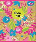 """Зошит для записів А5 / 48 лін. YES """"Flowers art"""" крафт, білила + гліттер, 5 шт / уп., фото 3"""
