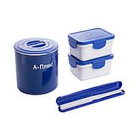 Ланч-бокс і термос харчовий з сумкою+ палички A-PLUS 1670, 500мл