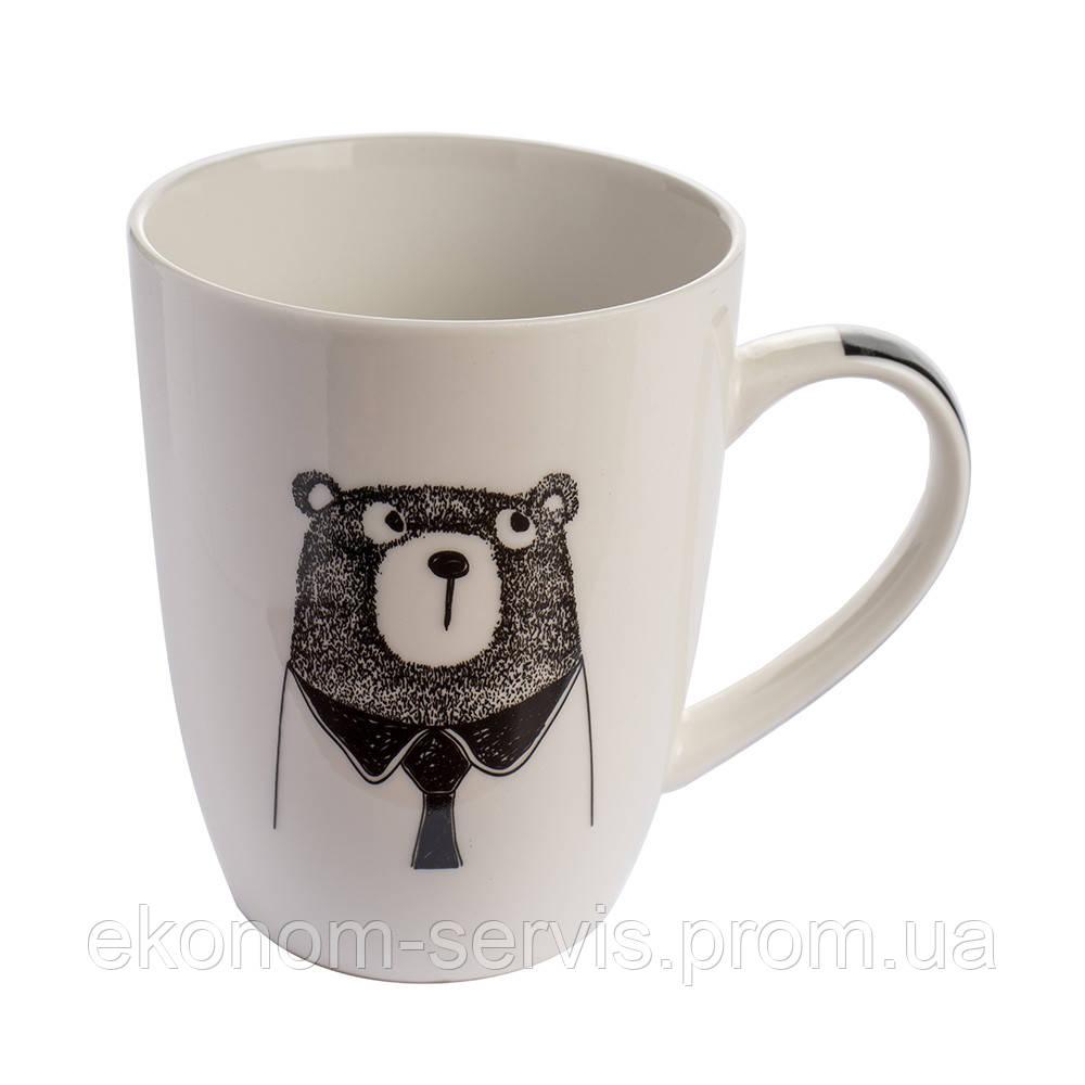 Чашка керамічна з принтом Bear style 360мл (6 штук в наборі)