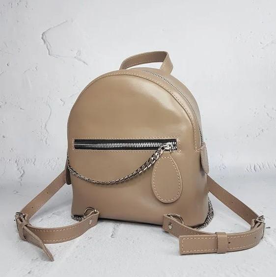 Рюкзак жіночий натуральна шкіра коричневий 1715