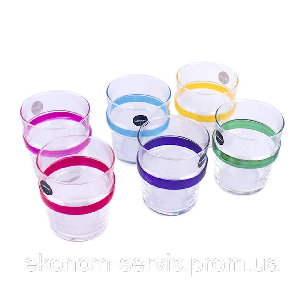 Набір стаканів високих 270мл 6шт Luminarc Acrobate Rainbow N1602