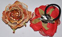 Роза на резинке, уточке и булавке (от 1 шт)