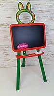 Доска для рисования, для мела и маркера, оранжевый-зеленый, мольберт Doloni toys 013777/5