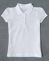 Футболка поло белая George для девочки RegularFit, 4-5л (104-110см)