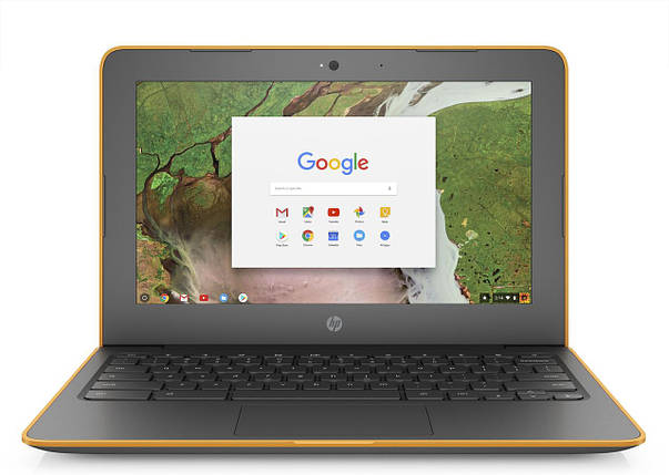 Ноутбук HP Chromebook 11A G6 EE-AMD A4-9120C-1.2 GHz-4Gb-DDR4-32Gb-SDD-W11.6-Web-(сіро-помаранчевий)-(B)- Б/У, фото 2