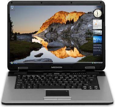 Ноутбук Medion MD98300-AMD Turion 64 X2-1,6Hz-1Gb-DDR2-500Gb-HDD-W15.4-DVD-R-Web-NVIDIA GeForce 6150-(C-)- Б/У