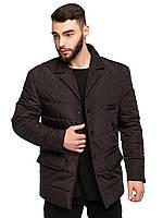 Стеганная мужская деми куртка сделанная пиджаком размеры 48-54