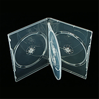 Бокс для 4-dvd диска 14 мм СУПЕР прозрачный глянцевый (4dvd 14 clear)