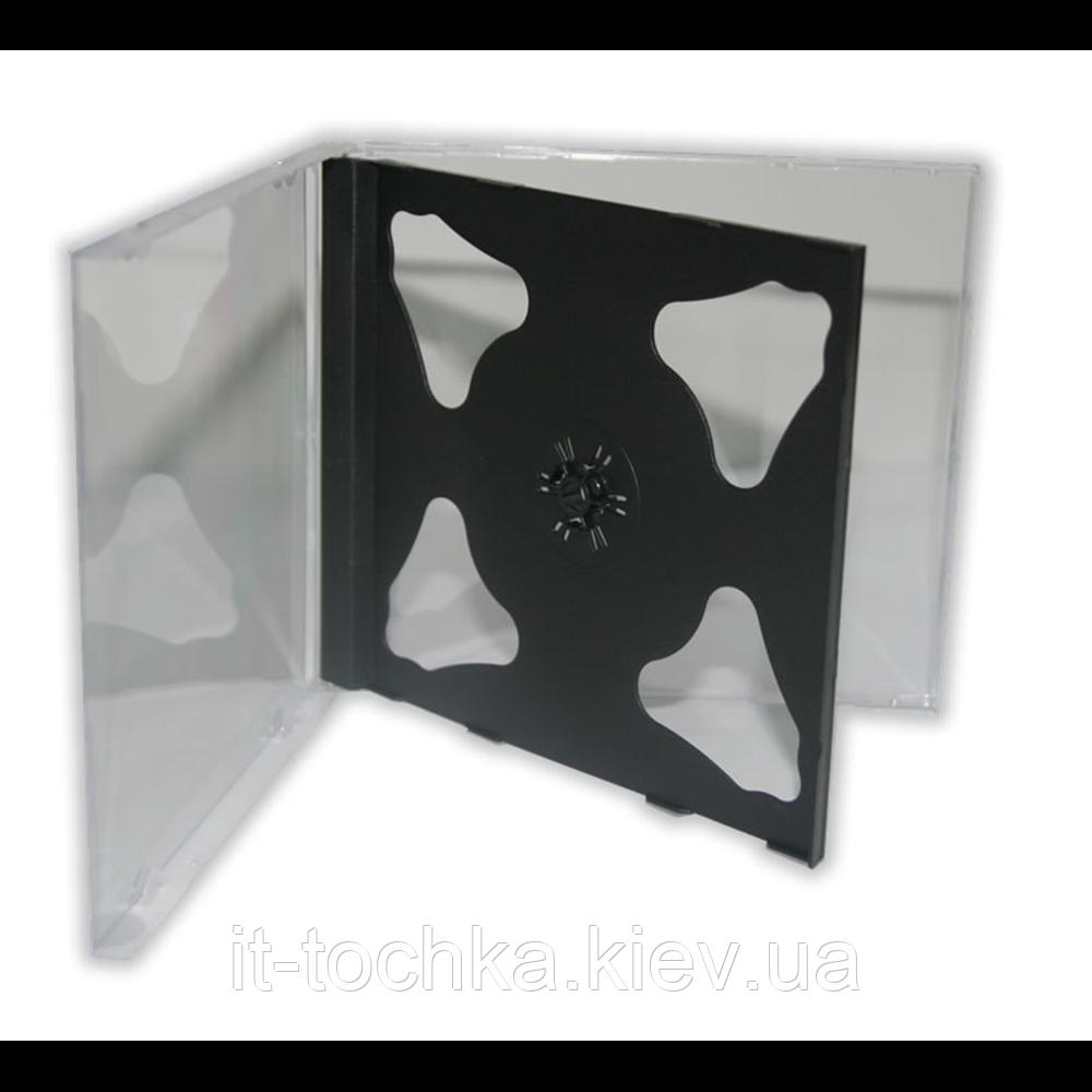 Бокс для 2-cd диска с черным треем (2-cd черный)