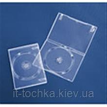Глянцевый бокс для 1-dvd диска 14 мм суперпрозрачный
