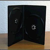 Бокс для 2-dvd диска 7 мм black глянцевый (2dvd 7mm smooth)