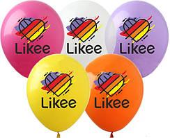 """Латексные шары SHOW 12"""" (30 см) Likee с надписью 10 шт"""