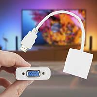 Конвертер відео HDMI TO VGA ADAPTER Білий