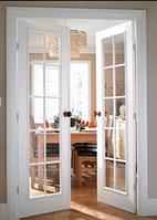 Установка двустворчастой деревянной двери с установкой замка с прибиваниям обналички