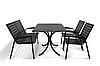 """Комплект меблів для літніх майданчиків """"Таї"""" стіл (120*80) + 2 стільця + 2 лавки Венге"""