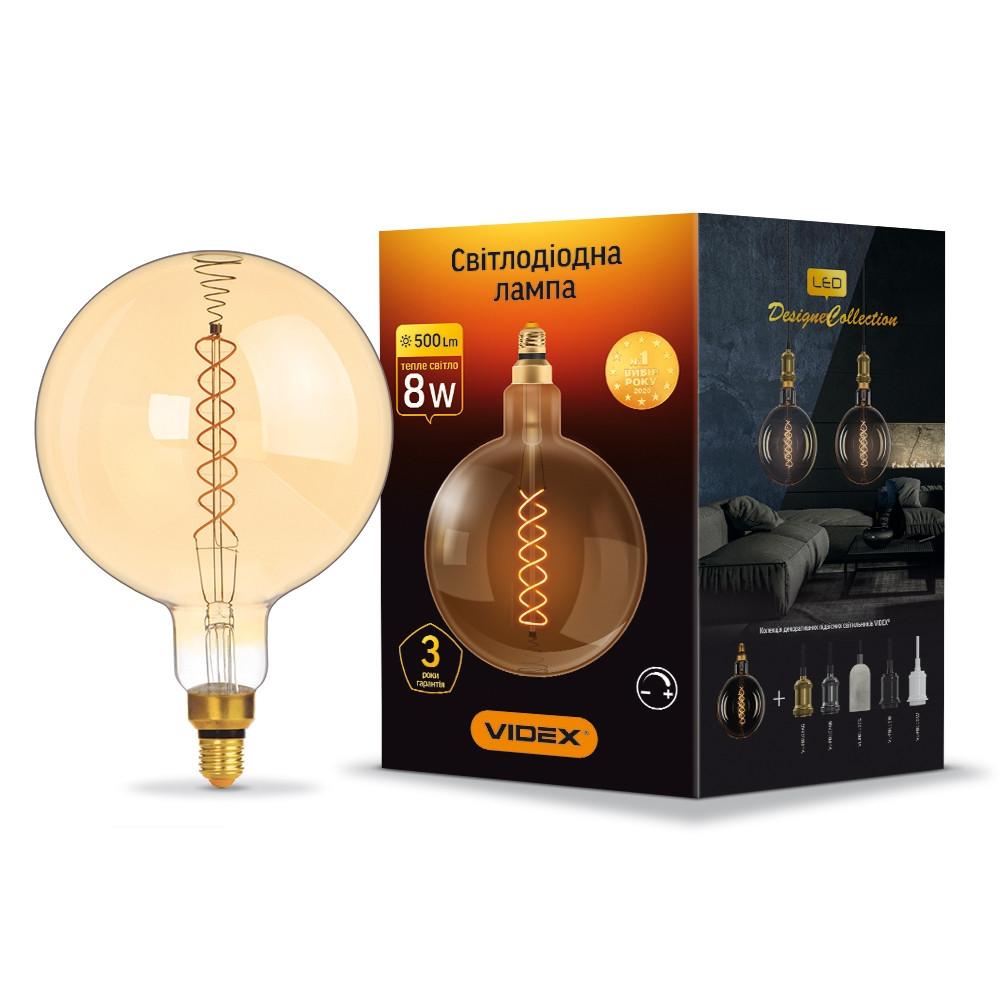 LED лампа VIDEX Filament G200FASD 8W E27 2200K диммерная