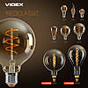 LED лампа VIDEX Filament G200FASD 8W E27 2200K диммерная, фото 2