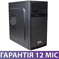 Корпус для ПК (системный блок) GTL 1603 Black, 500W, 120mm, Micro ATX / Mini ITX