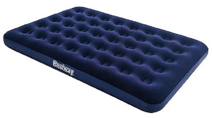 Матрац надувний велюровий 191х137х22 см надувне ліжко