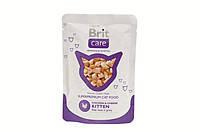 Brit Care Cat Chicken & Cheese KITTEN Pouch (курица,сыр), консервы для котят, пауч, 80г