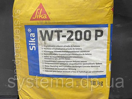 Sika WT 200 P - Добавка гидрофобизирующая с эффектом самозалечивания трещин для бетонов и растворов, 18 кг, фото 2