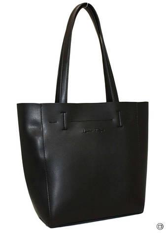 Жіноча сумка-шоппер Україна 518 чорна, фото 2