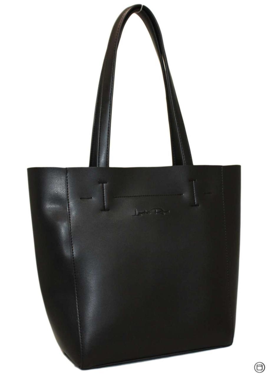 Жіноча сумка-шоппер Україна 518 чорна