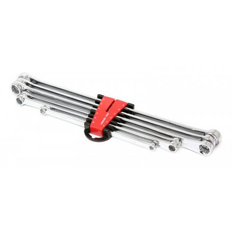 Набор ключей накидных экстра длинных, 6пр.(8х10, 11х13, 12х14, 15х17, 16х18, 19х21мм), в пластиковом держателе, фото 2
