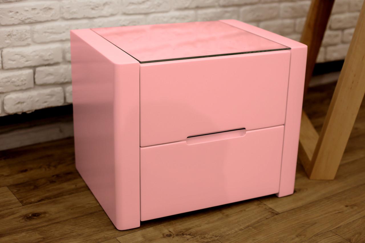 """Тумбочка """"Орео"""" з натурального дерева Рожевий колір антик"""