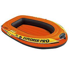 Одноместная надувная лодка Intex 58354, Explorer PRO 50, 137 х 85 см. 3-х камерная