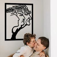 """Объемная 3D картина из дерева """"Сансара"""" 60х47 см"""