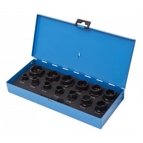 """Набір головок-екстракторів для пошкоджених болтів/гайок,14пр. 3/8"""" 1/2"""", в кейсі, фото 2"""